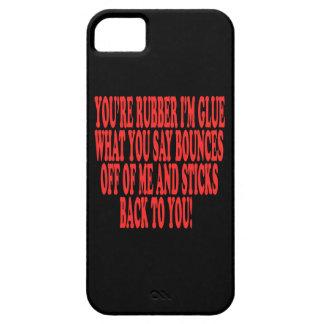 Caucho y pegamento iPhone 5 carcasas