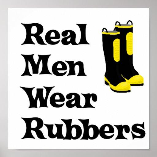 Cauchos reales del desgaste de hombres posters