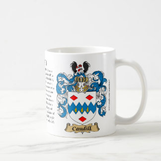Caudill, the Origin, the Meaning and the Crest Coffee Mug