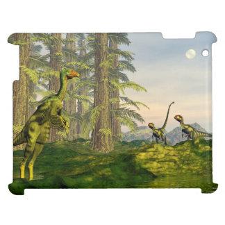 Caudipteryx and dilong dinosaurs - 3D render iPad Case