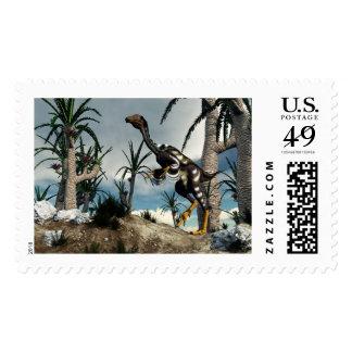 Caudipteryx dinosaur - 3D render Postage