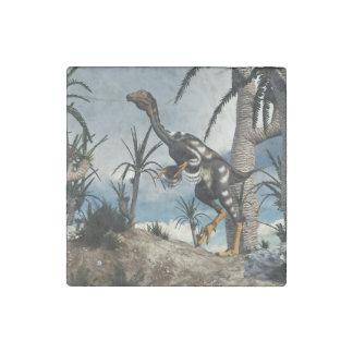Caudipteryx dinosaur - 3D render Stone Magnet