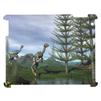 Caudipteryx dinosaurs - 3D render iPad Case