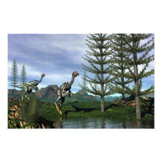 Caudipteryx dinosaurs - 3D render Stationery