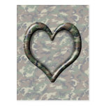 Cauflage Woodland Forest Heart on Ca Postcard