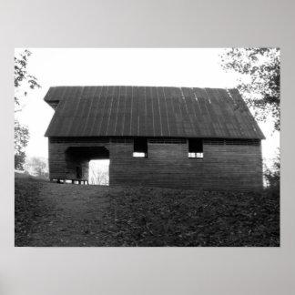 Caughron Barn, Cades Cove, b&w Print