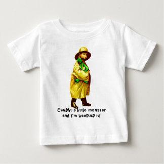 Caught A Little Monster Baby T-Shirt