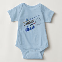 """Caught by a Midwife"" Fishing Bodysuit"