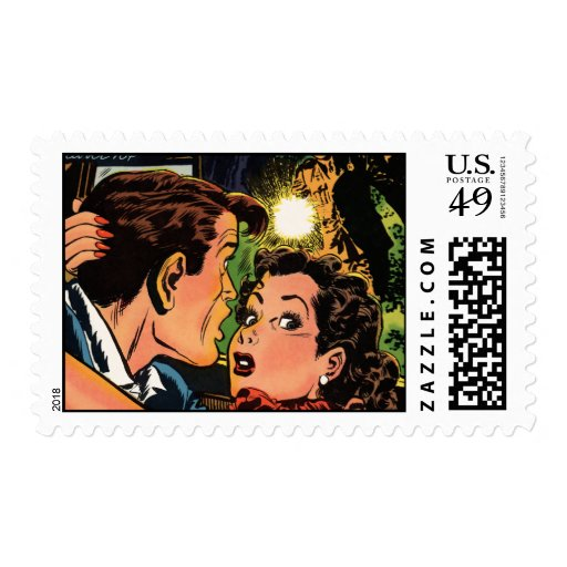 Caught in an Embrace Postage Stamps