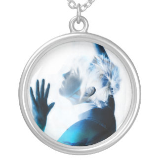 Caught in here and can't get out! round pendant necklace