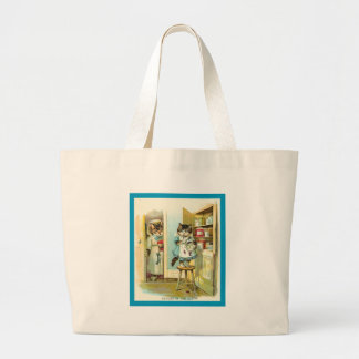 Caught in the Act Large Tote Bag