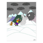 Caught in the blizzard postcards