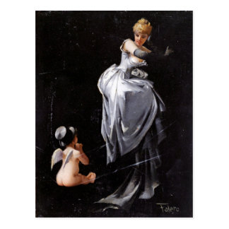 Caught in the Web by Luis Ricardo Falero ~ Postcard