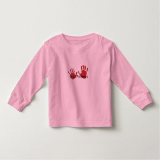 Caught Red Handed Childs Long Sleeve Top Shirt