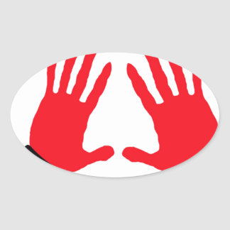 caught red handed copy.jpg oval sticker