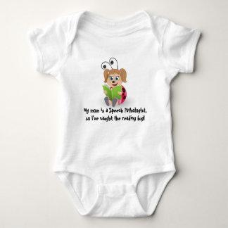 Caught the reading bug mom Speech Pathologist baby T-shirts