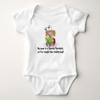 Caught the reading bug mum Speech Therapist baby T-shirts