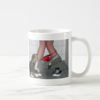 Caught with My Pants Down Again Cute Puppy Dog Mug