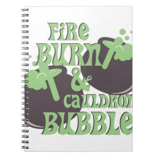 Cauldrom Bubble Notebook
