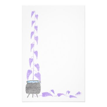 Halloween Themed Cauldron and Leaves Stationary Stationery