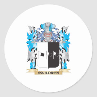 Cauldron Coat of Arms - Family Crest Classic Round Sticker