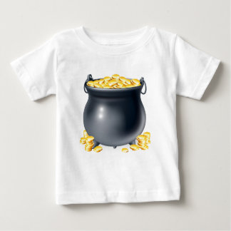 Cauldron full of gold coins baby T-Shirt