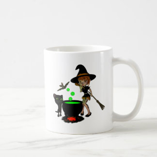 Cauldron Witch Coffee Mug