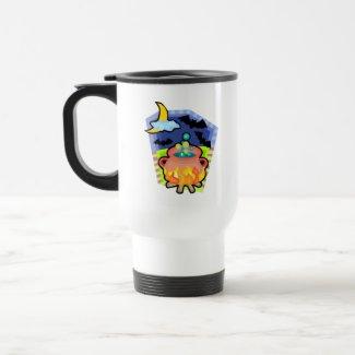 cauldron with bats mug