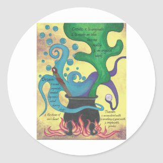 CauldronBlack Classic Round Sticker