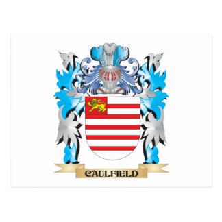 Caulfield Coat of Arms - Family Crest Postcard