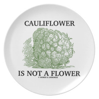 Cauliflower Is Not A Flower (Food For Thought) Plate