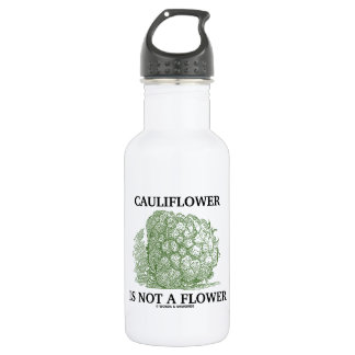 Cauliflower Is Not A Flower (Food For Thought) Stainless Steel Water Bottle
