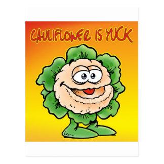 Cauliflower is yuck ! post cards