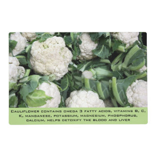 Cauliflower laminated placemat
