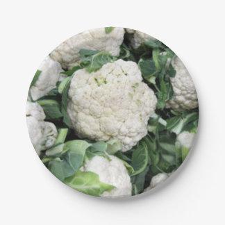 Cauliflower paper plate