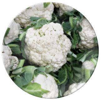 Cauliflower porcelain plate