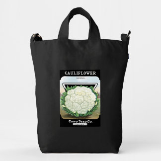 Cauliflower Vintage Seed Packet Vegetable Veggies Duck Bag