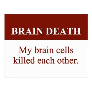 Causa de la muerte de cerebro 2 tarjetas postales