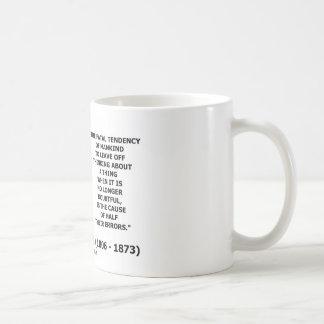 Causa de pensamiento de la tendencia fatal de la m taza de café