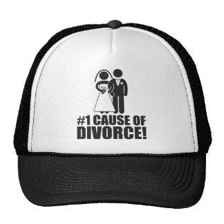 Causa del número uno del divorcio - boda divertida gorros