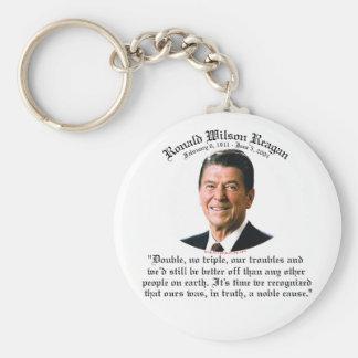 Causa noble de Reagan Llavero Redondo Tipo Pin