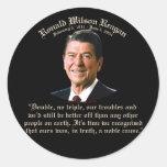 Causa noble de Reagan Pegatinas Redondas