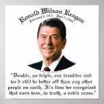 Causa noble de Reagan Poster