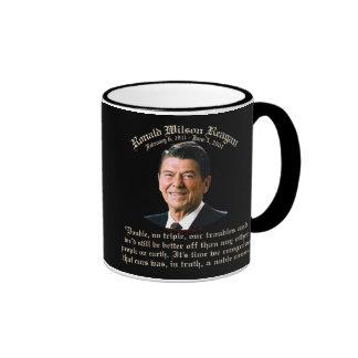 Causa noble de Reagan Taza A Dos Colores
