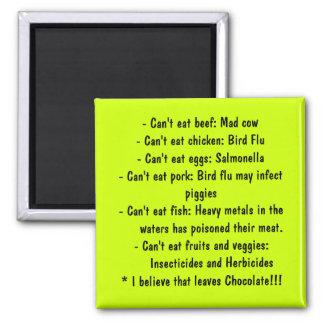 Causas - consumición sana imán para frigorífico