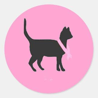 causas del cáncer de pecho de la cinta del rosa etiquetas redondas
