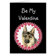 Cause I Woof Love You German Shepherd Valentine Greeting Card