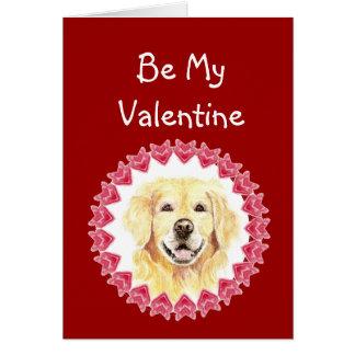 Cause I Woof Love You Golden Retriever Valentine Cards