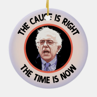 Cause Right, Time Now Ceramic Ornament