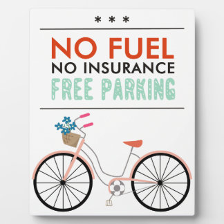 CAUSES GO GREEN BICYCLING BENEFITS NO FUEL INSURAN DISPLAY PLAQUES